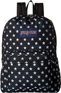 JanSport Unisex SuperBreak Black/White Stars One Size