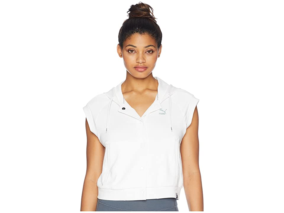 PUMA Classics SL Logo T7 Hoodie (PUMA White) Women