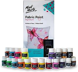 comprar comparacion Mont Marte Pintura para Tela – 20 piezas x 20ml – Pintura Textil – Colores ideal para Ropa, Bolsos y todas las Telas