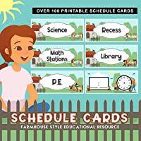 Schedule Cards - Daily Classroom Routine Cards in Cute Farmhouse Style