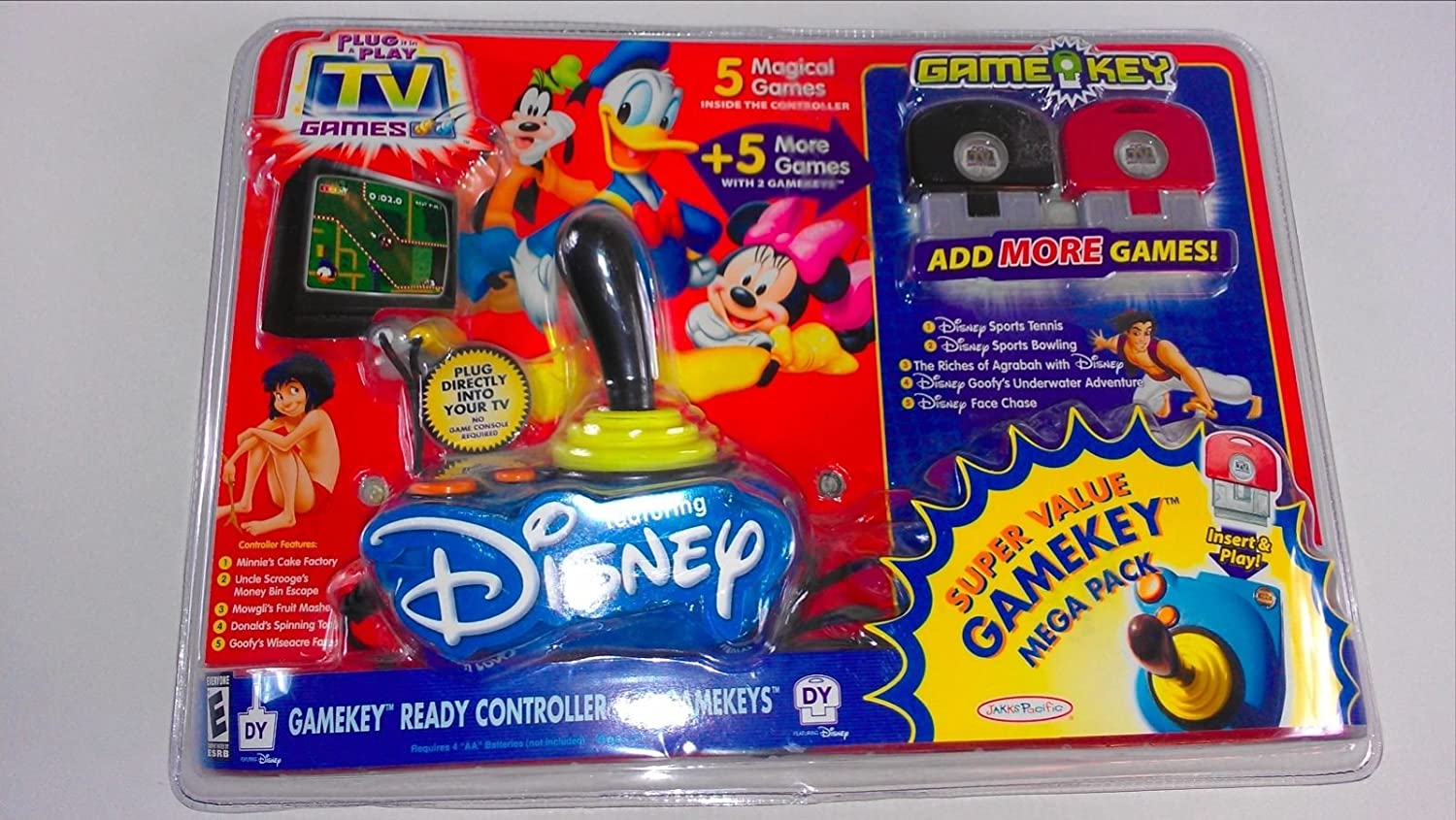 Disney Plug it in & Play TV Super Value Mega Pack with 2 extra Game Keys by Disney