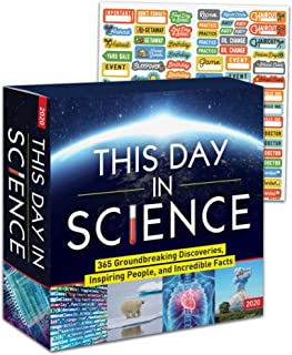This Day in Science 2020 Calendar Box Edition Set - Deluxe History Channel Day-at-a-Time Box Calendar with Over 100 Calendar Stickers (Science Gifts, Office Supplies)