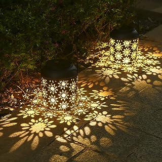Lanterne Solaire, Tomshine 2 Pièces LED Lampe lanterne extérieure, Etanche IP65,Sans fil Rechargeable pour Garden Patio Co...