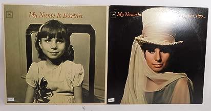 2 Barbra Streisand Vinyl Record Albums My Name is Barbra Two and My Name is Barbra