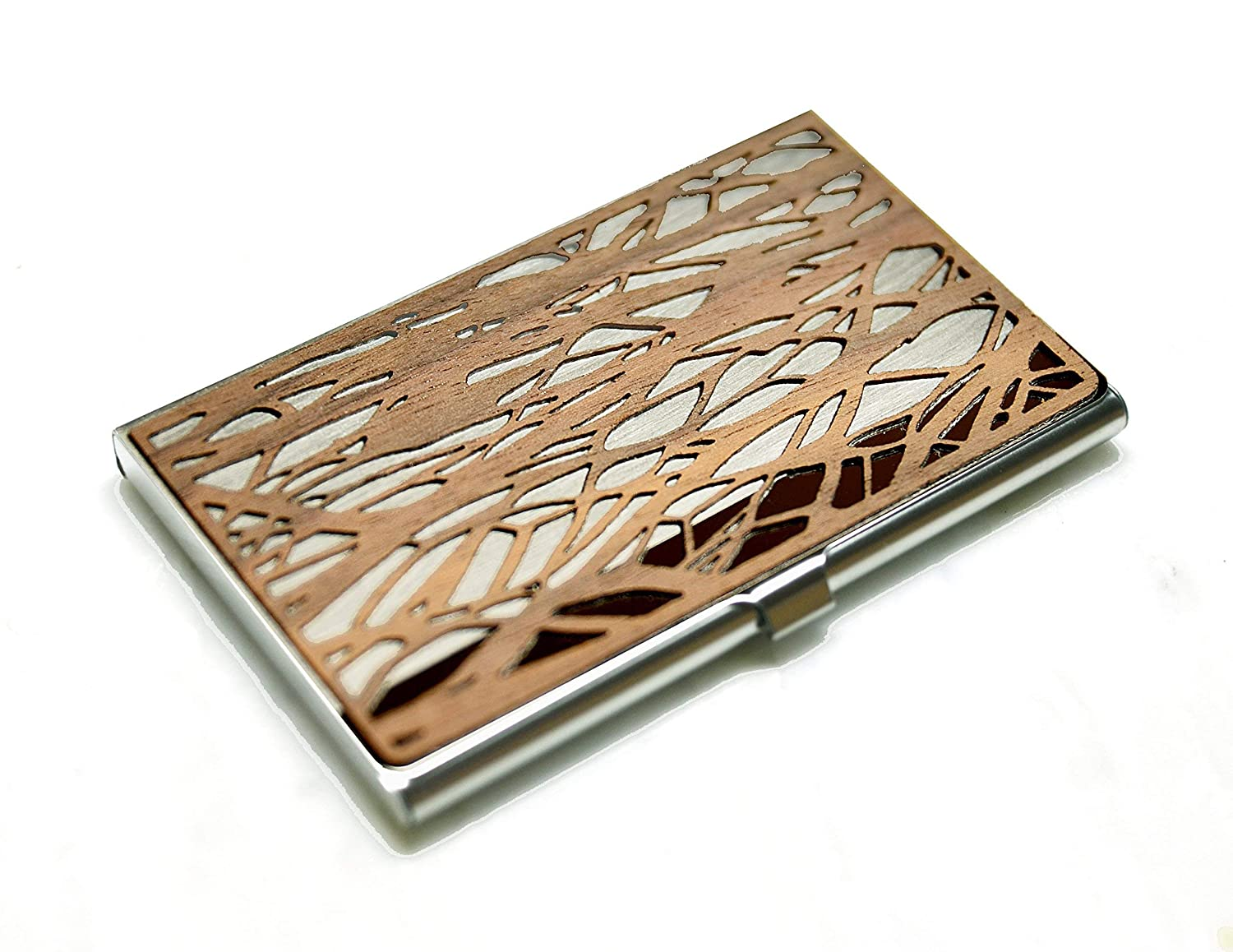 Same day shipping Wood business card Now free shipping holder case Branch Belle Isle -