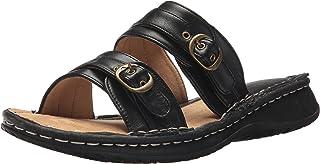 صنادل منزلقة للسيدات من AdTec : حذاء مصمم لأي مناسبة بدون رباط مسطح، أسود، 6 M US