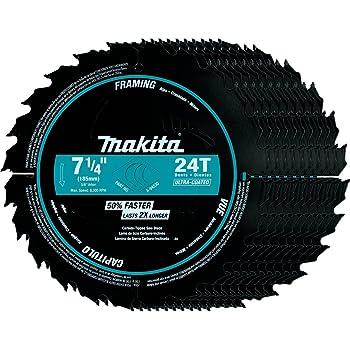 Makita B-61656-10 7-1//4 pouces 24-Tpi Ultra-mince trait de scie Encadrement Lame 10pk