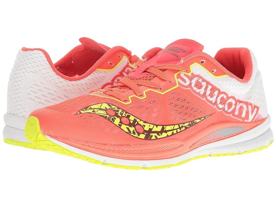 Saucony Fastwitch 8 (Coral/Citron) Women