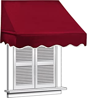 ALEKO Window Awning Door Canopy 4-Foot Decorator Awning, 4x2 feet, Burgundy