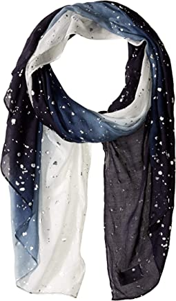 Foil Speckled Ombre Evening Scarf