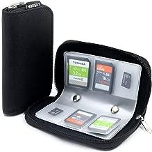 Memory Card Cases, HONSKY 22 Slot Zippered SD Micro SD CF SDXC SDHC MMC SecureDigital Memory CompactFlash Cards Carrying Holder Bags Pouch Organizer Keeper Media Storage & Organization, Black