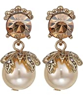 Marchesa - Small Post Double Drop Earrings