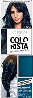 L'Oreal Paris Hair Color Colorista Semi-Permanent for Brunette Hair, Midnightblue