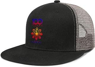 QILI 100 Years a Century of Camaraderie Demolay Men Women Fashion Flat Brim Mesh Baseball Hat Adjustable Snapback Cap
