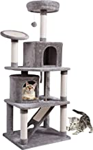 MC Star XXL Árbol para Gatos Rascador para Gatos con 2 Casa Acogedora, Plataforma Engrosada, Varias Tabla de Rascar y Juguetes 161cm, Gris Claro