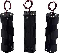 LAMPVPATH (Pack of 3) 8 AA Battery Holder, 12v AA Battery Holder, 8 AA Battery Holder With Leads