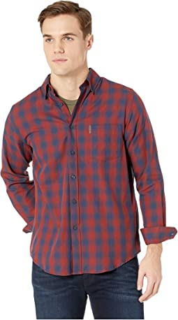 Long Sleeve Ombre Plaid Shirt