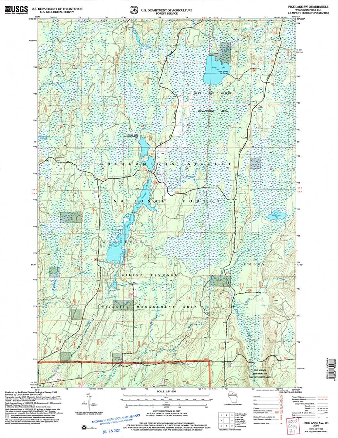 Pike Lake SW WI topo map, 1 24000 Scale, 7.5 X 7.5 Minute, Historical, 2005, Updated 2006, 27.4 x 22 in