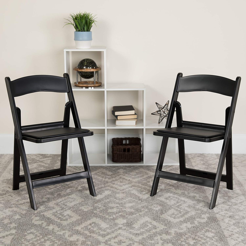 BizChair Folding Chair - Black Resin Luxury Pack – Very popular Capa 2 Weight 1000LB