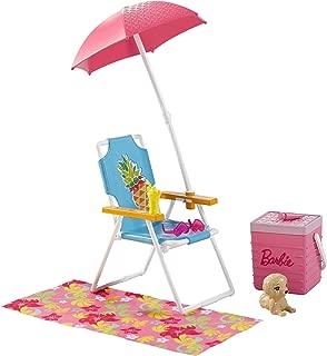 Barbie Beach Picnic Furniture & Accessory Set For Girls
