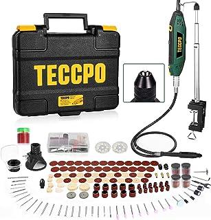TECCPO Rotary Tool Kit 1.8 amp, 10000-40000RPM, 6 Variable Speed, Universal Keyless Chuck and...