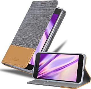Cadorabo Book Case Works with Huawei Nexus 6P in Light Grey Brown – with Magnetic Closure, Stand Function and Card Slot – Wallet Etui Cover Pouch PU Leather Flip