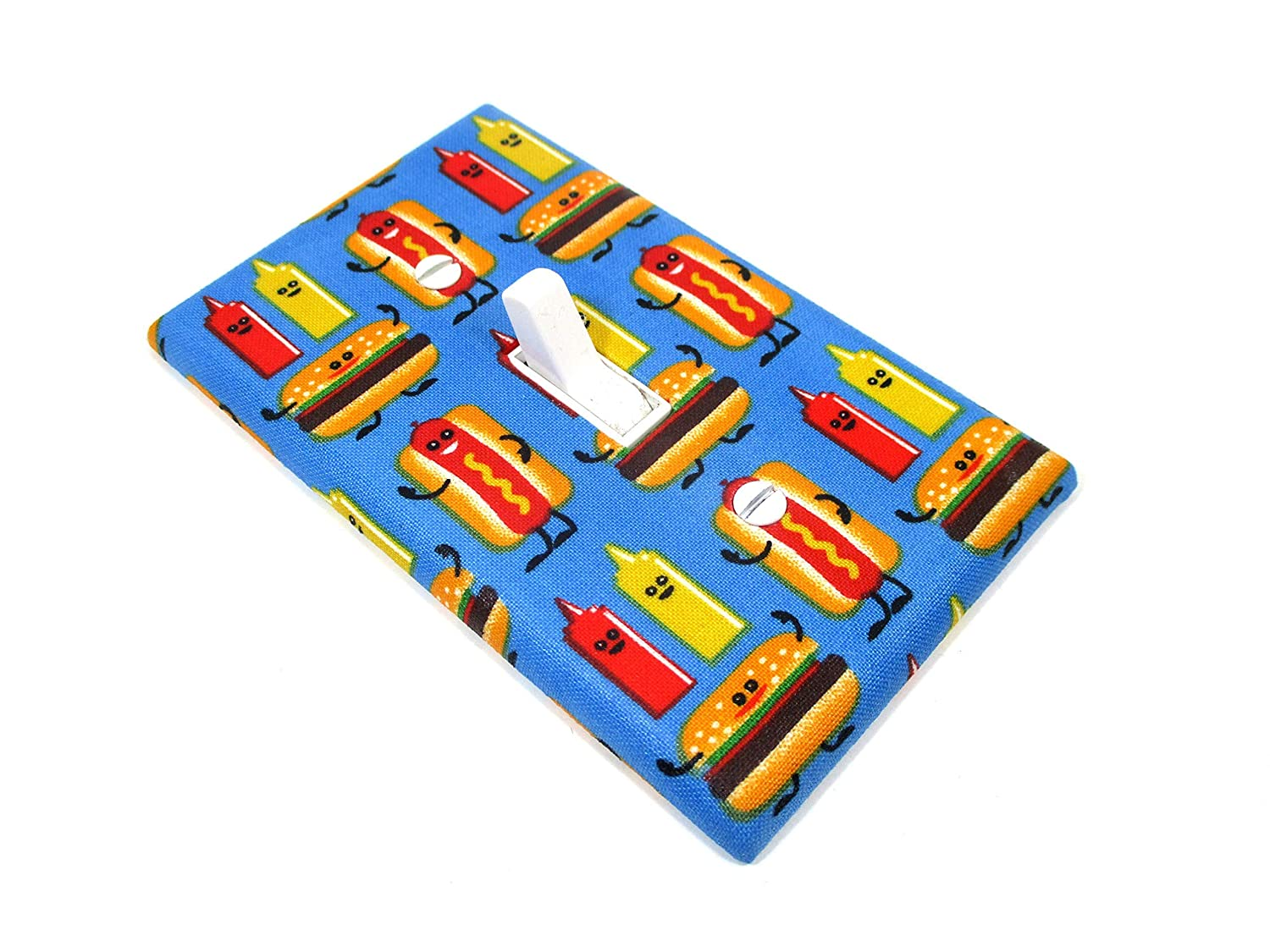 Deluxe Hot Dog Hamburger Manufacturer regenerated product Ketchup Mustard Light F Fast Plate Swich Cover