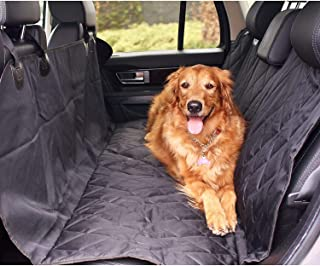 Gluckluz Car Seat Cover for Dog Cat Back Seat Carrier Safety Travel Protector Mat With Seat Anchors for Cars Trucks Suv's...
