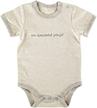 Stephan Baby Inspirational Heather Snapshirt-Style Diaper Cover, Answered Prayer, Gray/Cream, 0-3 Months
