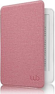 Capa Kindle Paperwhite, WB, Ultra Leve, Auto Hibernação, Sensor Magnético, Silicone Flexível, Estilo Tecido, Rosa