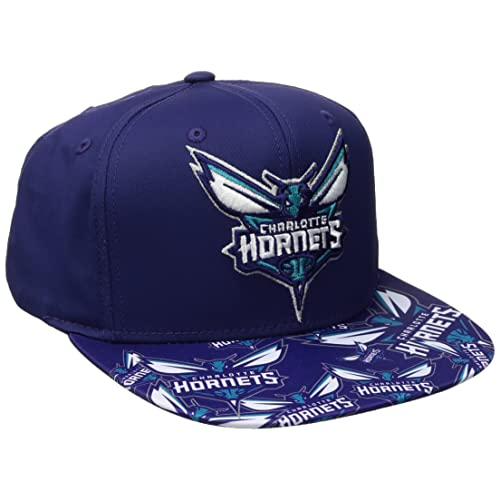 b427af8551af0 NBA Charlotte Hornets Men s Tail Sweep Flat Brim Snapback Hat