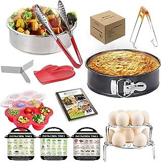 Pressure Cooker Accessories - Fits 6 QT, 8 quart Instant Pot and other Pressure Cookers (Multi Cookers) and 6.5 qt and 8qt Ninja Foodi