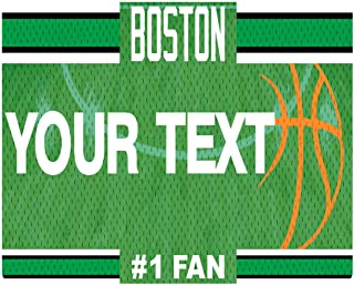 BleuReign(TM) Personalized Custom Name Basketball Boston License Plate Square Refrigerator Fridge Magnet