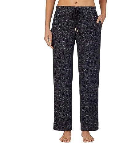 Donna Karan Sweater Knit Sleepwear Pants (Black Marl) Women