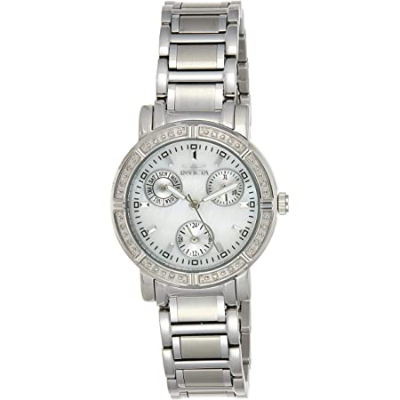 Invicta Women's Wildflower Stainless Steel Diamond Quartz Watch, Silver (Model: 4718)