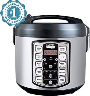 Aroma Housewares ARC-5000SB Digital Rice, Food Steamer, Slow, Grain Cooker, Stainless..