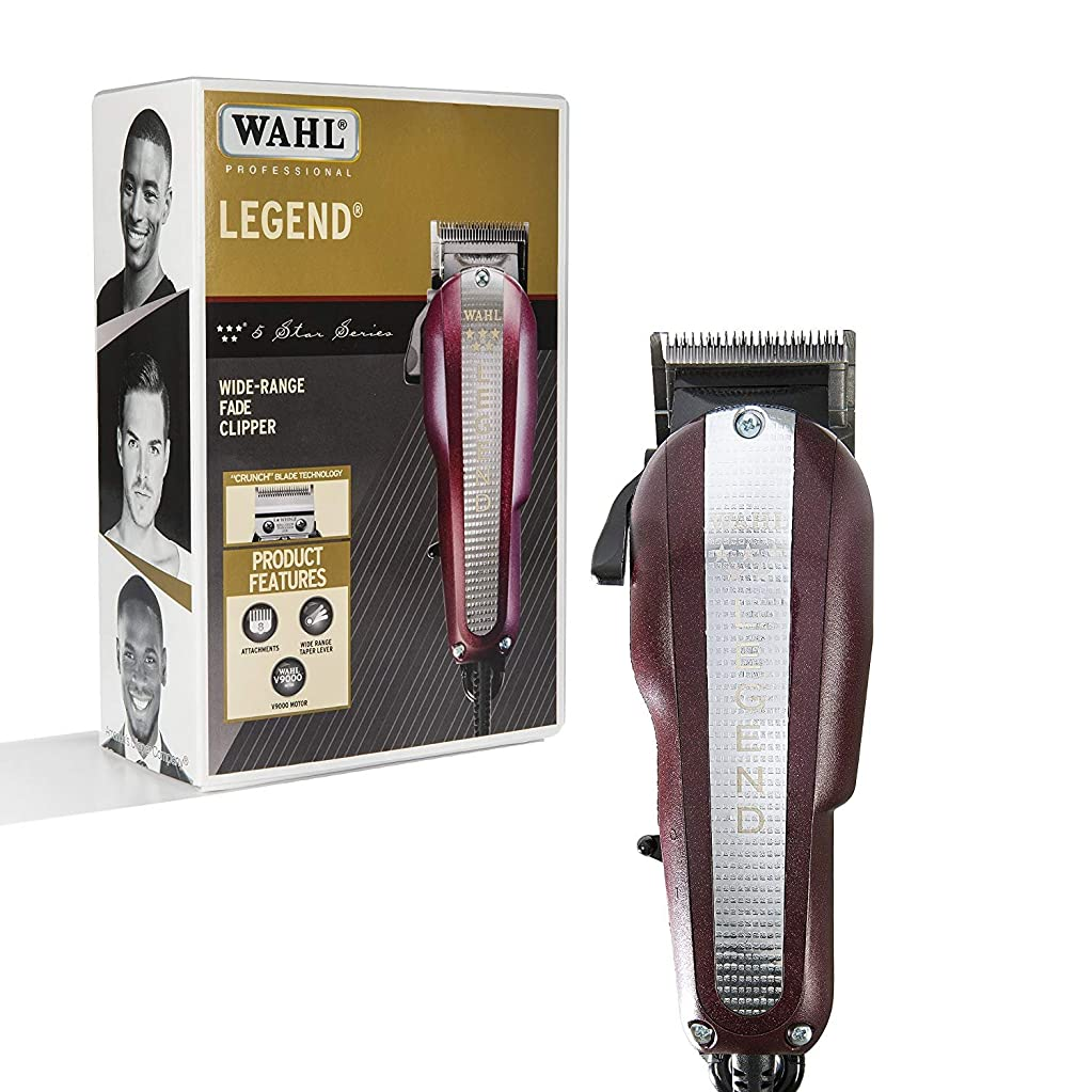 雰囲気慈悲深いスライムWahl Professional New Look 5-Star Legend Clipper #8147 - The Ultimate Wide-Range Fading Clipper with Crunch Blade Technology - Includes 8 Attachment Combs (並行輸入品)