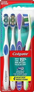 Colgate 360 Toothbrush, Medium, 4 Count Value Pack
