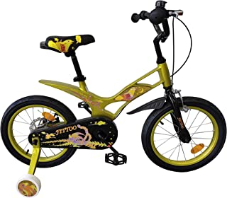 FITTOO 16 inchWheelBike Freestyle Bicycle 16 Inch with Balance and Training Wheels, Safer Brake System for Kids, Lightwe...