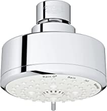 GROHE 26043001 Tempesta Cosmopolitan 100 4 Spray Functions Shower Head, Starlight Chrome