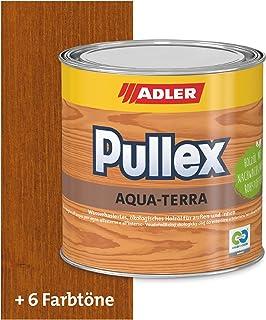 ADLER Pullex Aqua-Terra - Ökologisches Holzöl Außen & Innen - Universell anwendbar für starken Wasserschutz & lange Haltbarkeit - Auf Wasserbasis & nachwachsender Rohstoffe - Kastanie 750 ml
