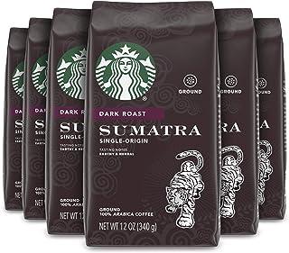 Starbucks Dark Roast Ground Coffee — Sumatra — 100% Arabica — 6 bags (12 oz. each)