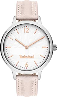Timberland Sconset Women's Analogue Quartz Watch with White Dial and PINK Leather Strap - TBL.15642BYS-01