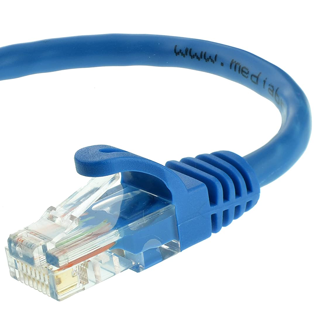Mediabridge Ethernet Cable (10 Feet) - Supports Cat6/5e/5, 550MHz, 10Gbps - RJ45 Cord (Part# 31-399-10X )