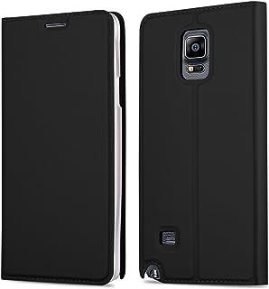 fe374349725 Cadorabo Funda Libro para Samsung Galaxy Note 4 en Classy Negro – Cubierta  Proteccíon con Cierre