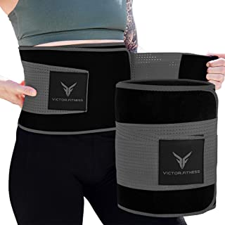 Victor Fitness Neoprene Waist Trimmer for Men and Women with Adjustable Velcro Straps
