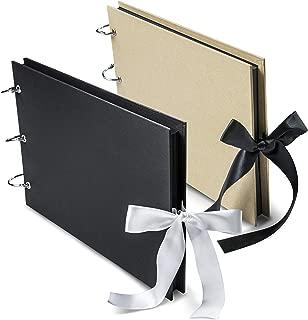 Scrapbook Album 80 Pages - Family Adventure Book w/Scrapbooking Supplies   Includes Silver Ink Pen, 6 Binder Rings, Corner Stickers   Photo Album Book for Wedding, Anniversary & Memories
