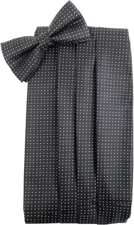 Men's Patterned Bow Tie & Matching Cummerbund Set - Bow Ties for Men + Wedding Party Cummerbund and Bow Tie Set