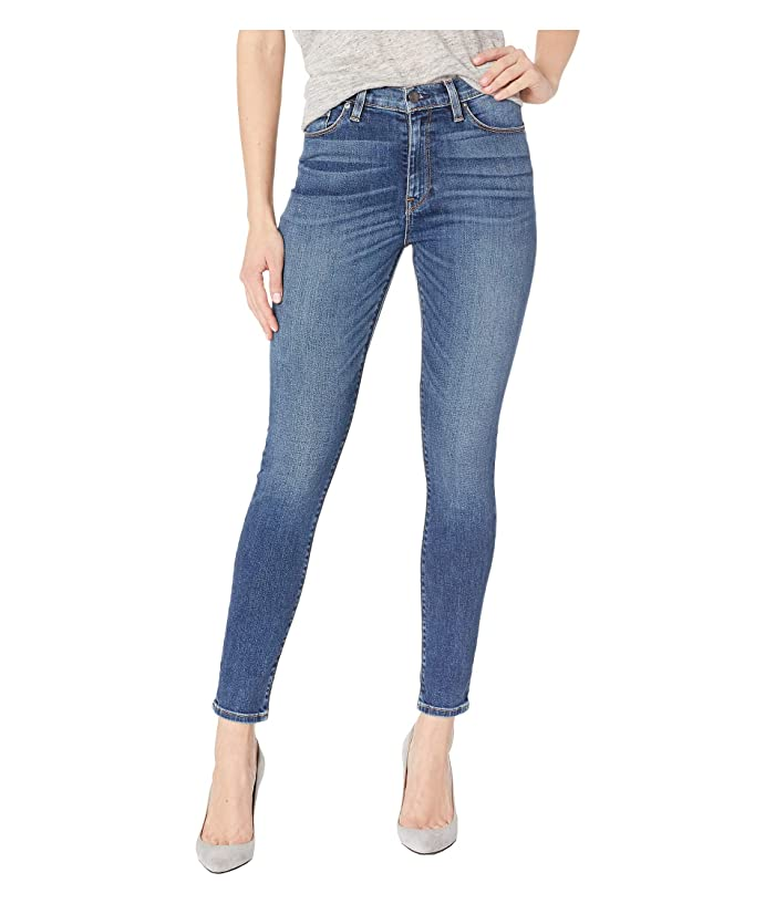 2a447f3f265 Hudson Jeans Barbara High Ankle Raw Hem Skinny Jeans in Clean Side ...