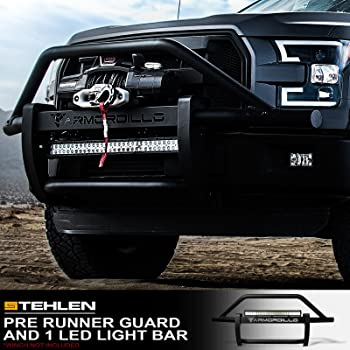Silver KYX Bull Bar for 2004-2020 F150 Expedition//2003-2014 Navigator Pickup Truck 3 Brush Grille Guard Stainless Steel with Removable Skid Plate Off-Road Front Bumper